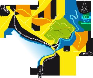 Localisation du parc industriel de Lac-Mégantic