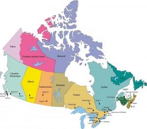 Carte du Canada