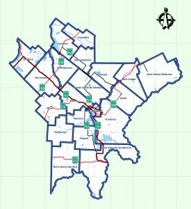 Map of MRC du Granit
