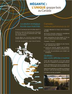 Mégantic : l'unique grappe bois au Canada